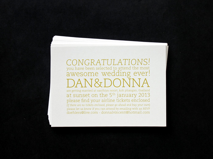 Donna & Dan's Wedding Invitations